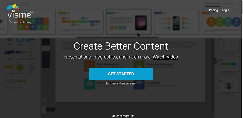 Create Interactive Online Presentations infographics animations banners in HTML5 Visme by Easy WebContent