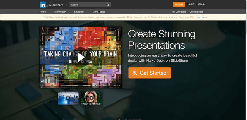 Create Presentations on SlideShare