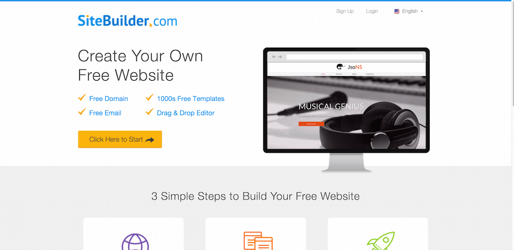 Create Your Own Free Website with SiteBuilder.com 1 Website Builder SiteBuilder