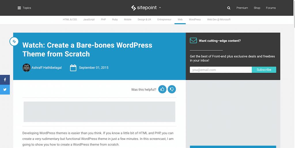 Create a Bare-bones WordPress Theme from Scratch