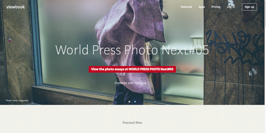 Create a photography portfolio website Viewbook