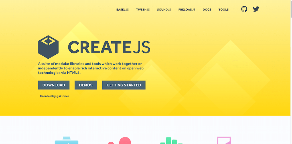 CreateJS A suite of JavaScript libraries and tools designed for working with HTML5