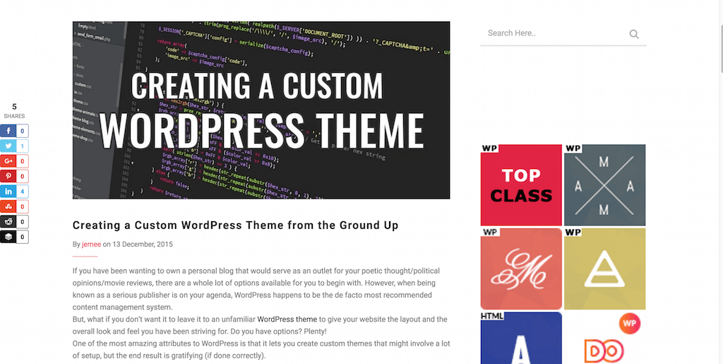 17 Tutorials on How to Create a WordPress Theme 2017 - Colorlib