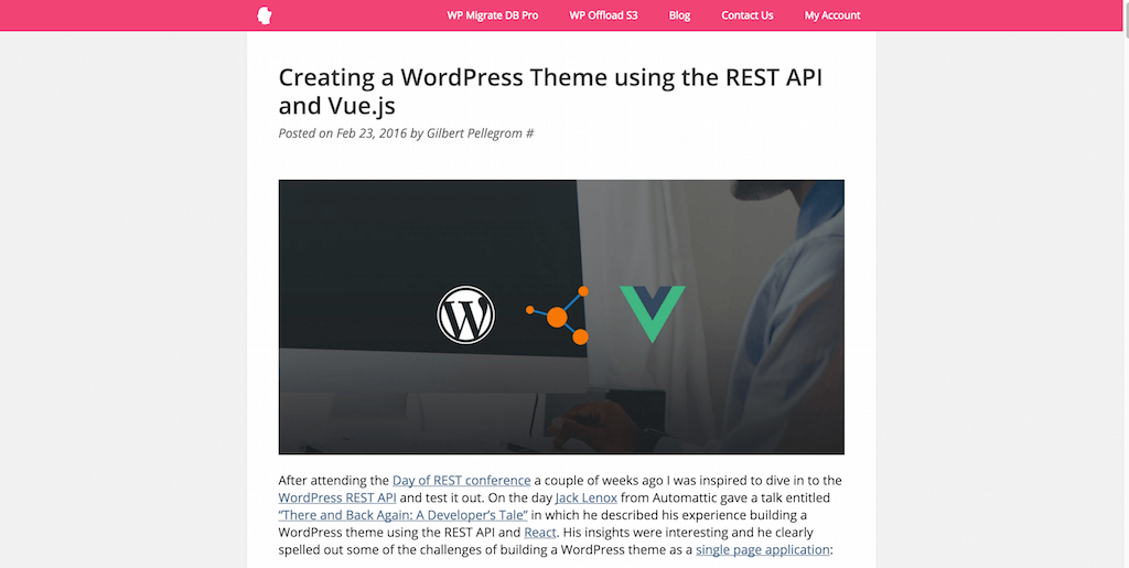 17 tutorials on how to create a wordpress theme 2017 colorlib creating a wordpress theme using the rest api and vuejs publicscrutiny Choice Image