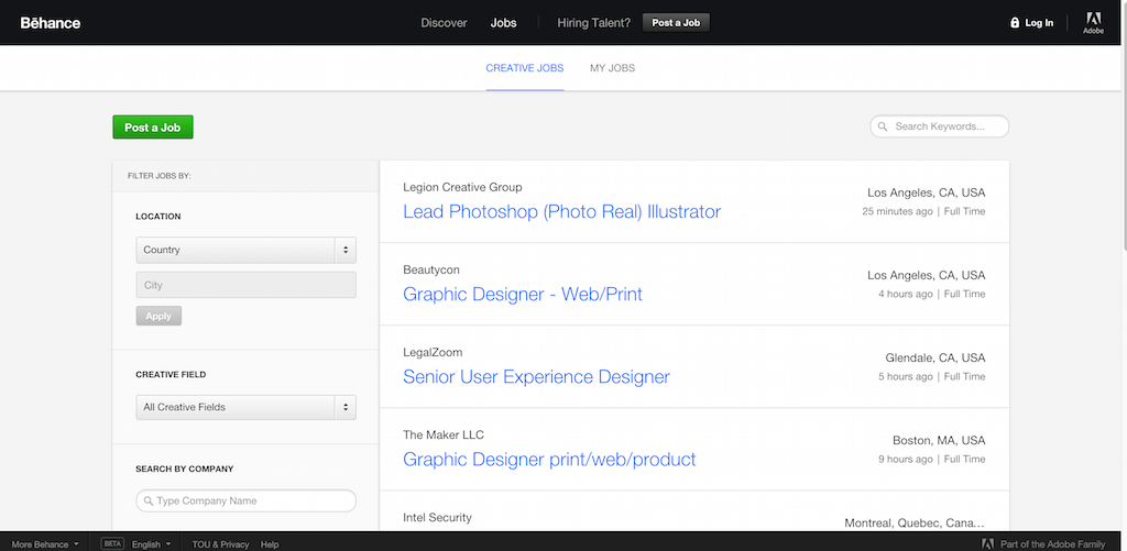 Creative Jobs and Freelance Opportunities on Behance