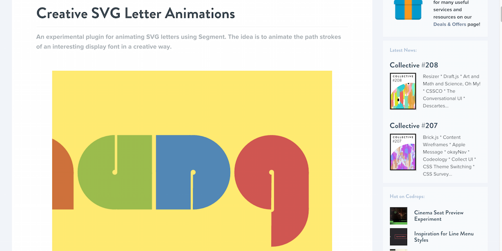 Creative SVG Letter Animations