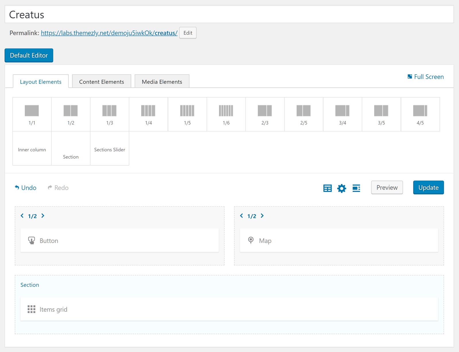Creatus Page Builder