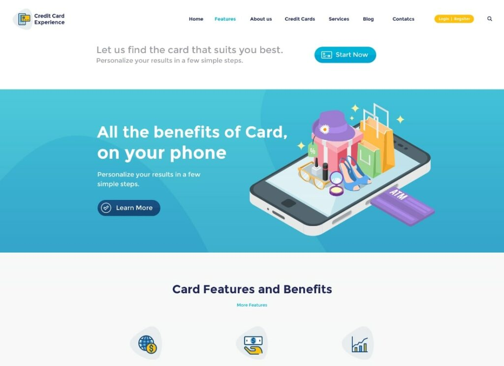 Credit Card Experience | Loan Company and Online Banking WordPress Theme