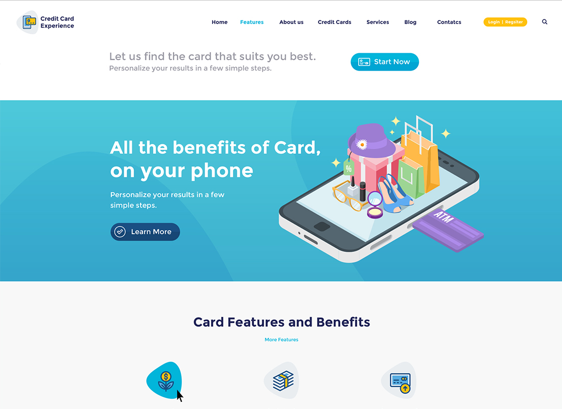 Credit Card Company and Online Banking WordPress Theme