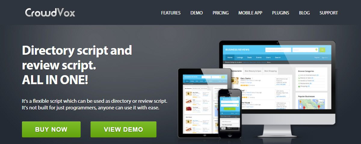 Crowd Vox Review: Business Directory And Review Website Builder