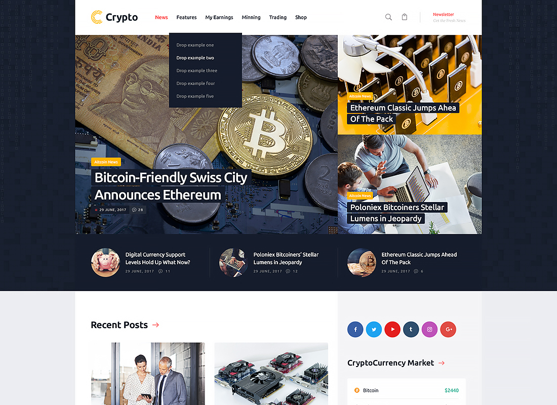 Crypton - A Multi-Purpose Cryptocurrency WordPress Theme