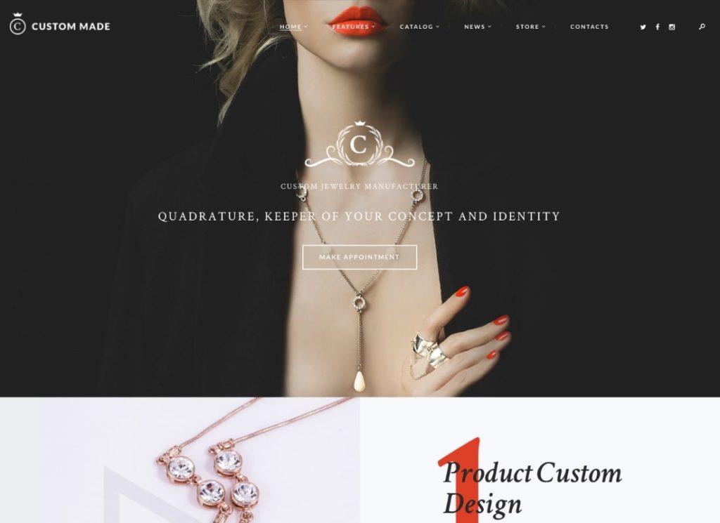 Custom Made   Jewelry Manufacturer and Store WordPress Theme