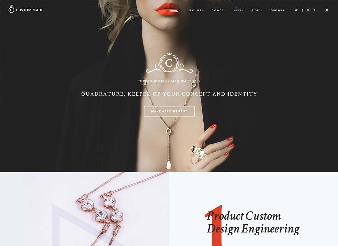 Custom Made | Jewelry Manufacturer and Store Luxury WordPress Theme