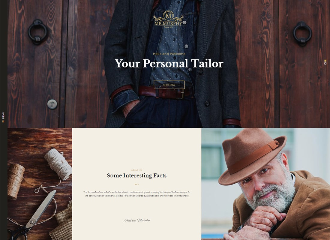 Mr. Murphy - Custom Tailoring WordPress Theme