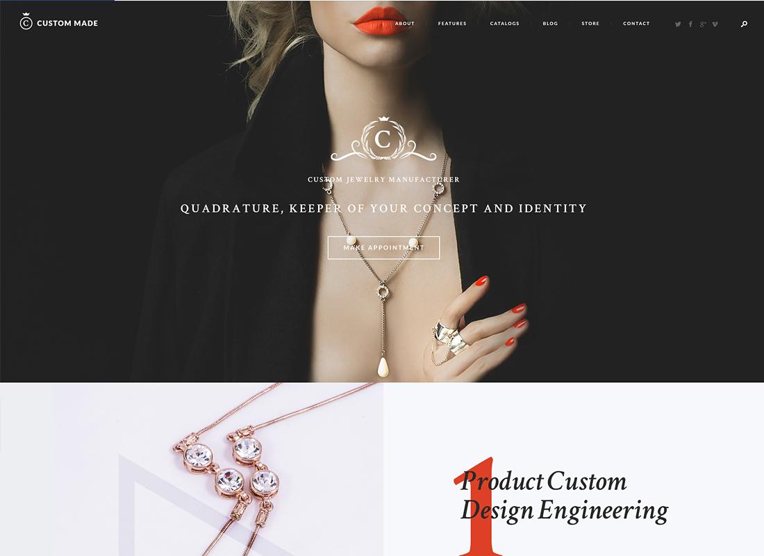 Custom Made - Jewelry Manufacturer and Store WordPress Theme