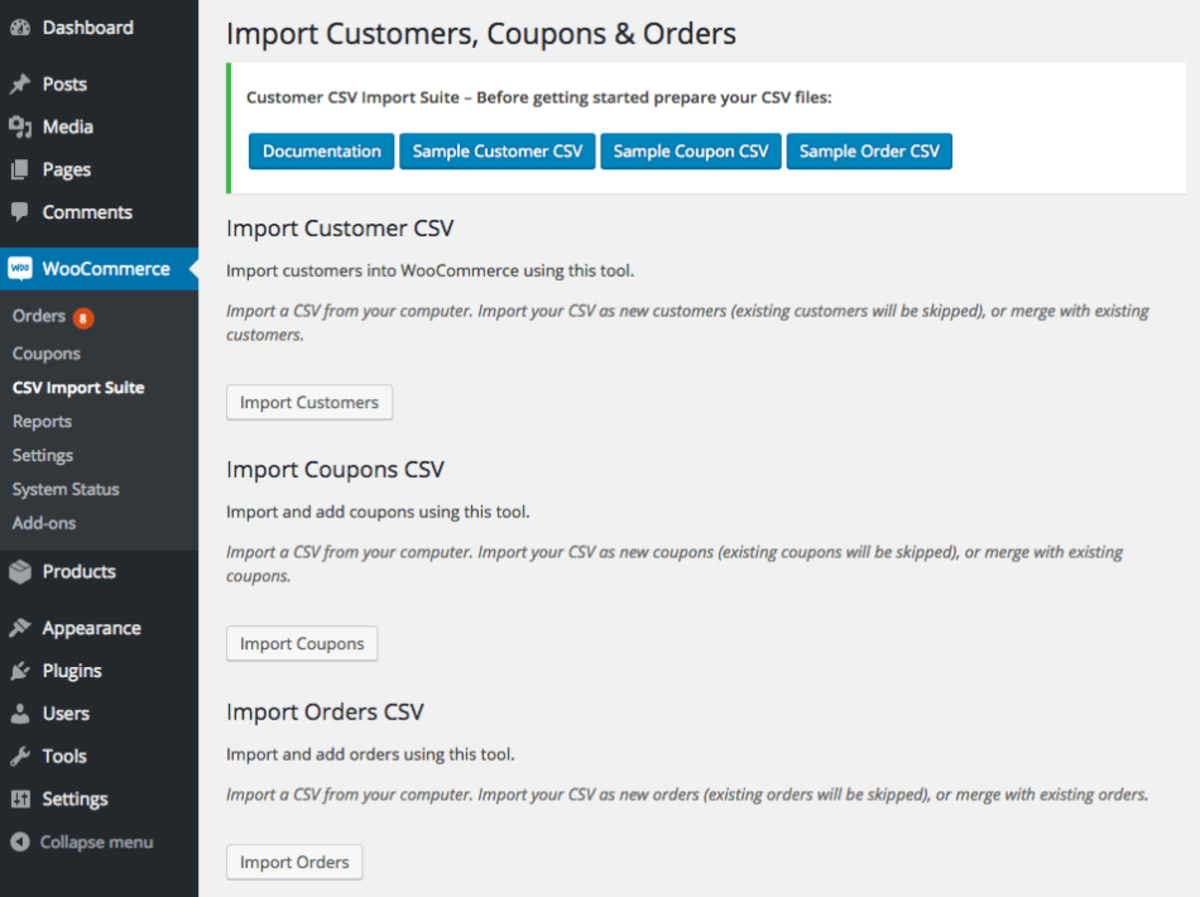 Simple WooCommerce CSV Import Plugins