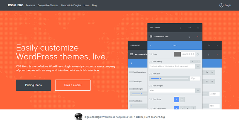 Customize WordPress Themes Live I CSS Hero