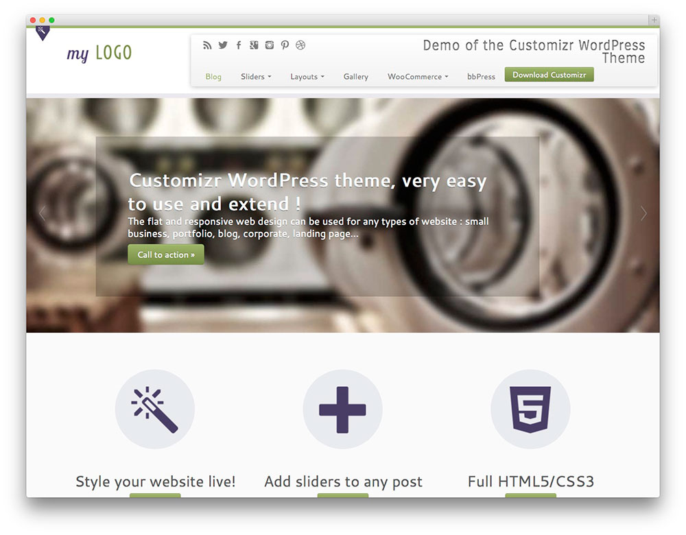 Customize - Free Boostrap theme
