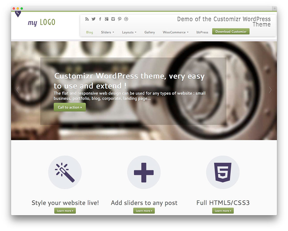 Customizr - Free business wp theme