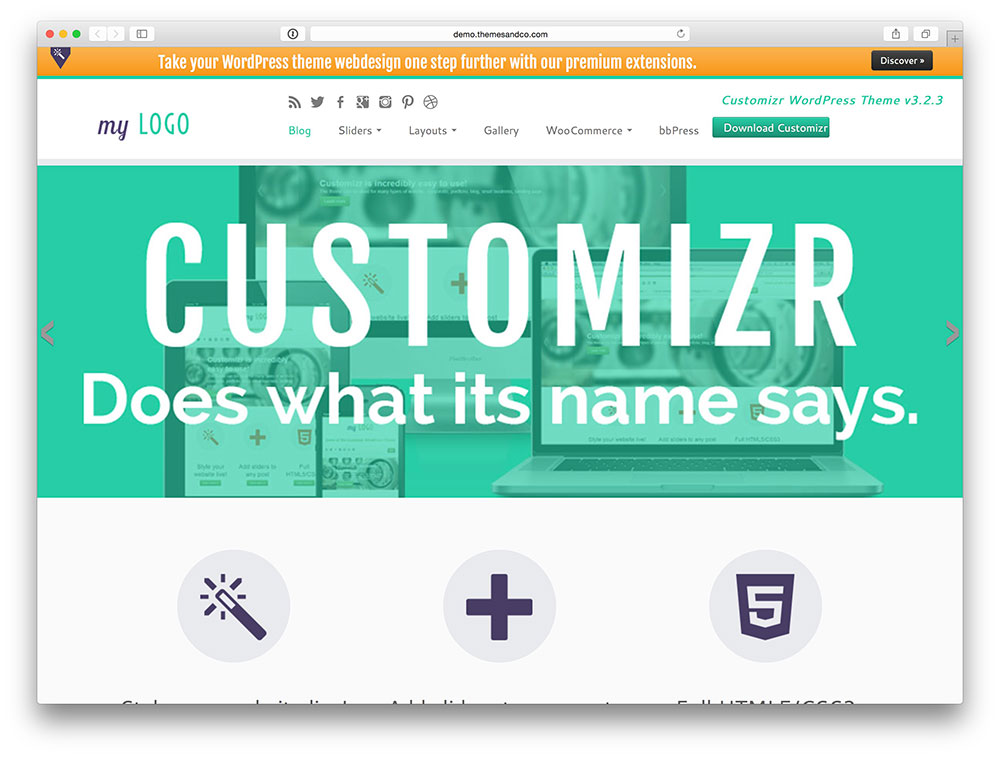 Customizr Multipurpose theme
