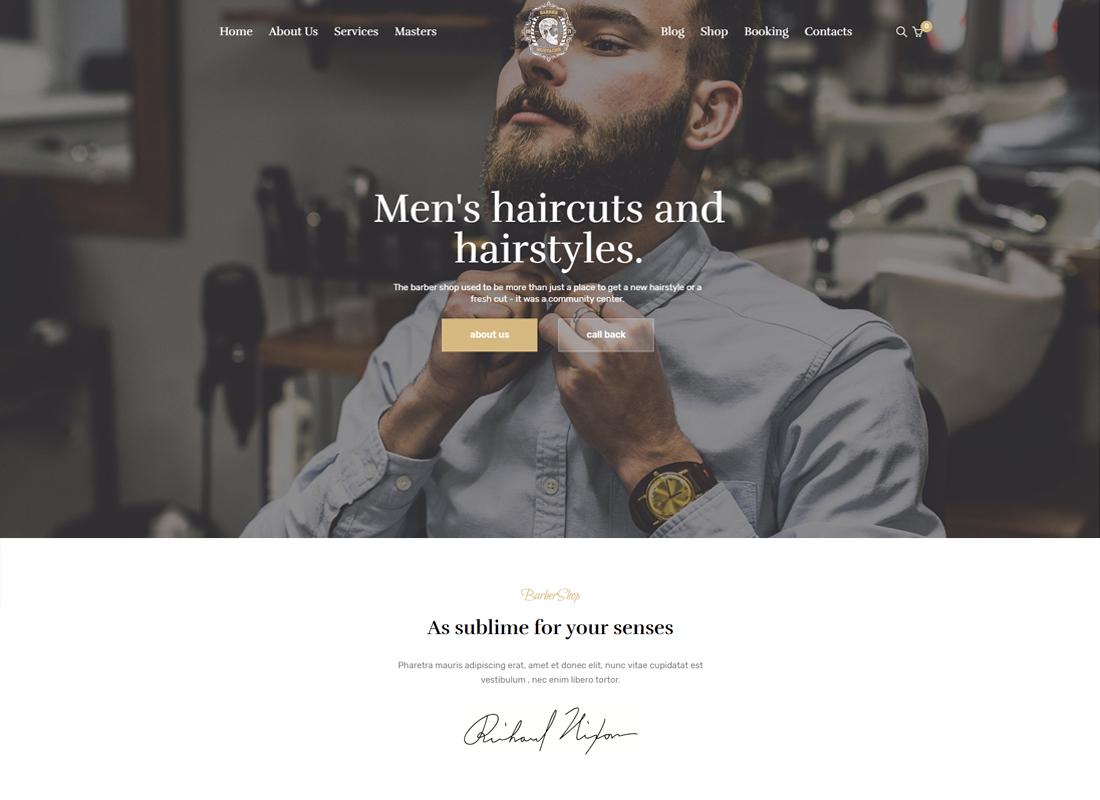 CutStyle - Barber & Barber Shop WordPress Theme
