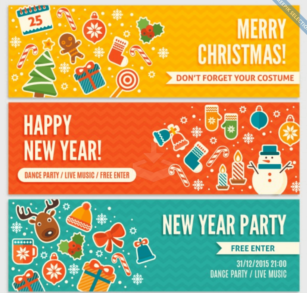 Cute Invitation for Christmas Banners