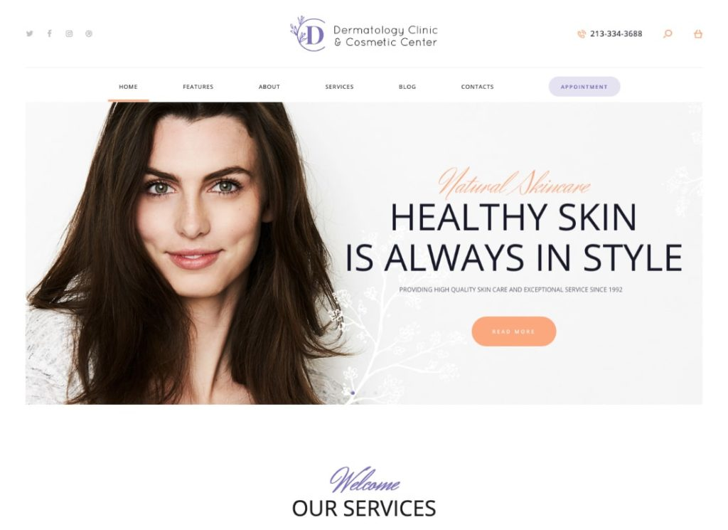 D&C | Dermatology Clinic & Cosmetology Center WordPress Theme