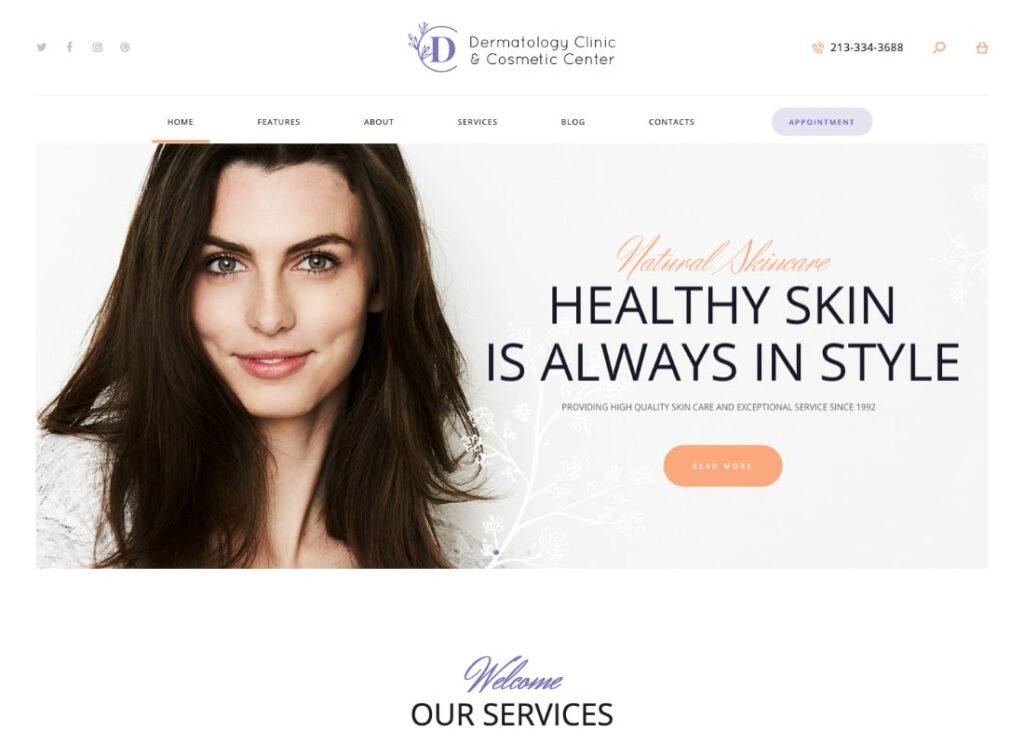 D&C   Dermatology Clinic & Cosmetology Center WordPress Theme