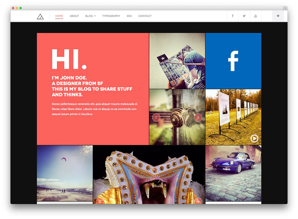 Best TumblrStyle WordPress Blog Themes Colorlib - Timeline blogger template
