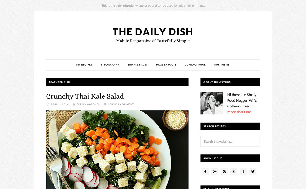 Daily Dish - food magazine