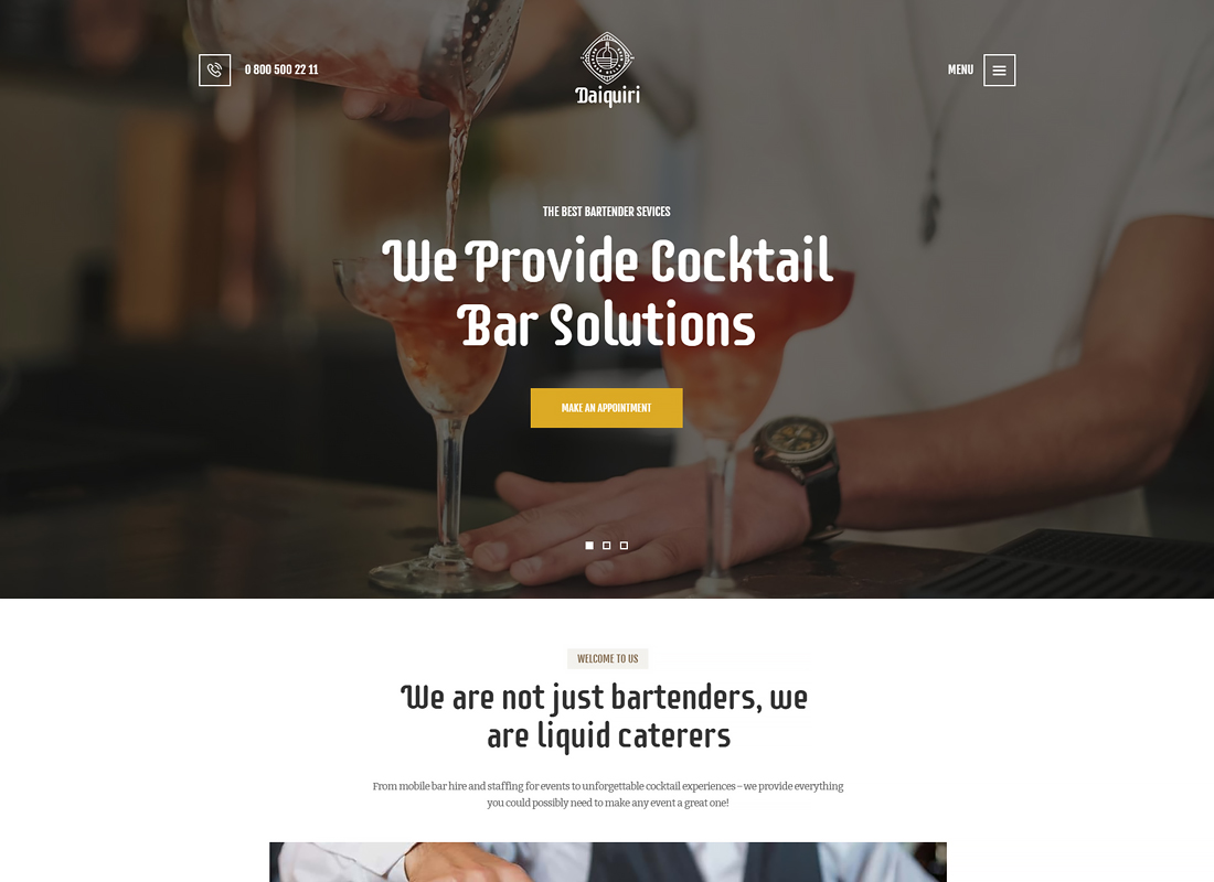 Daiquiri - Bartender Services & Catering WordPress Theme
