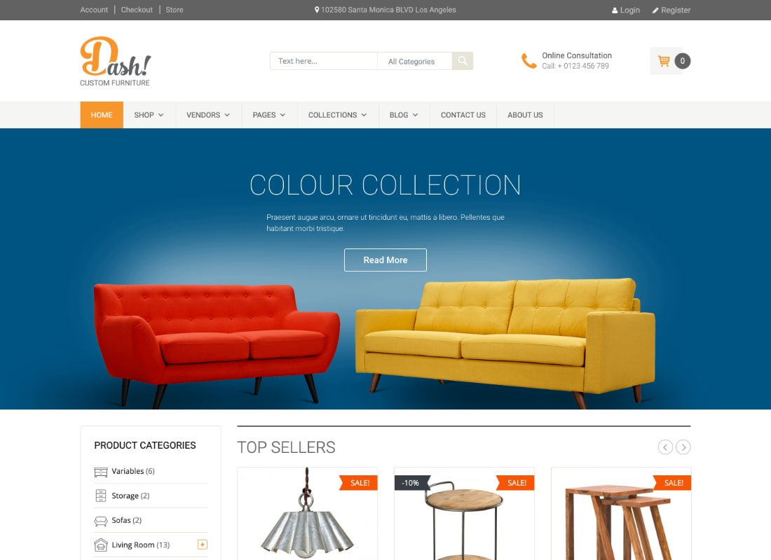 Dash | Handmade Furniture Marketplace Theme