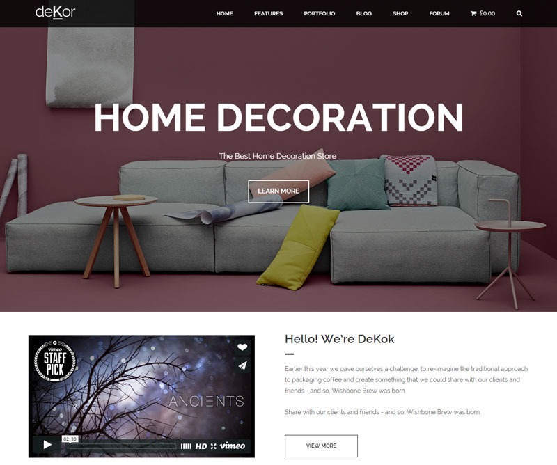 E-commerce Business Theme