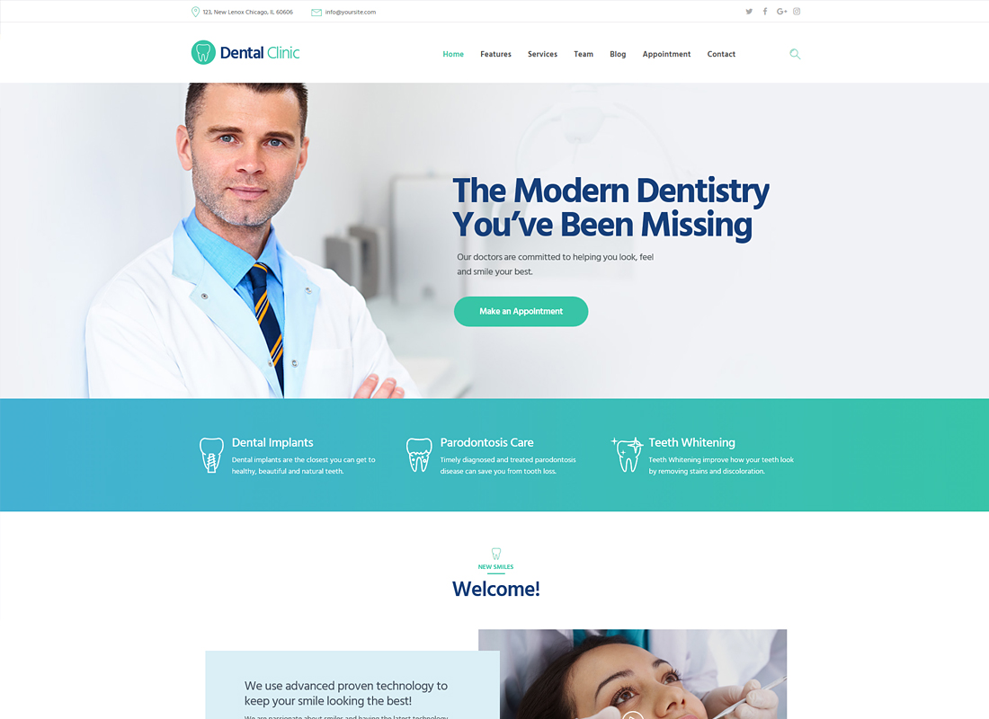 Dental Clinic | Dental, Medicine & Healthcare WordPress Theme