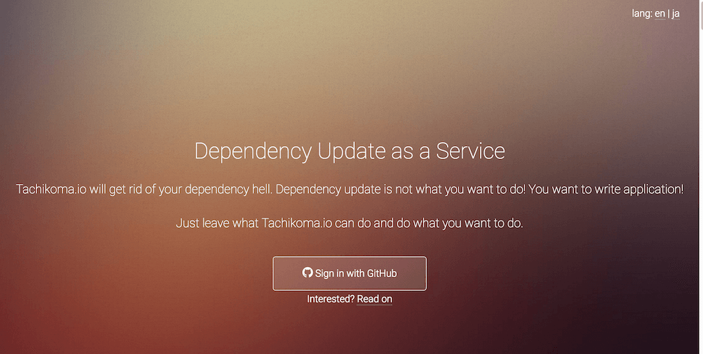 Dependency Update as a Service Tachikoma.io