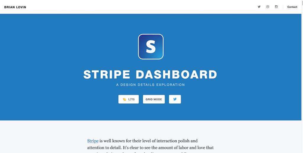 Design Details - Stripe Dashboard