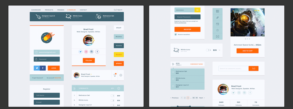 Top 35 Free Mobile UI Kits for App Designers 2017 - Colorlib