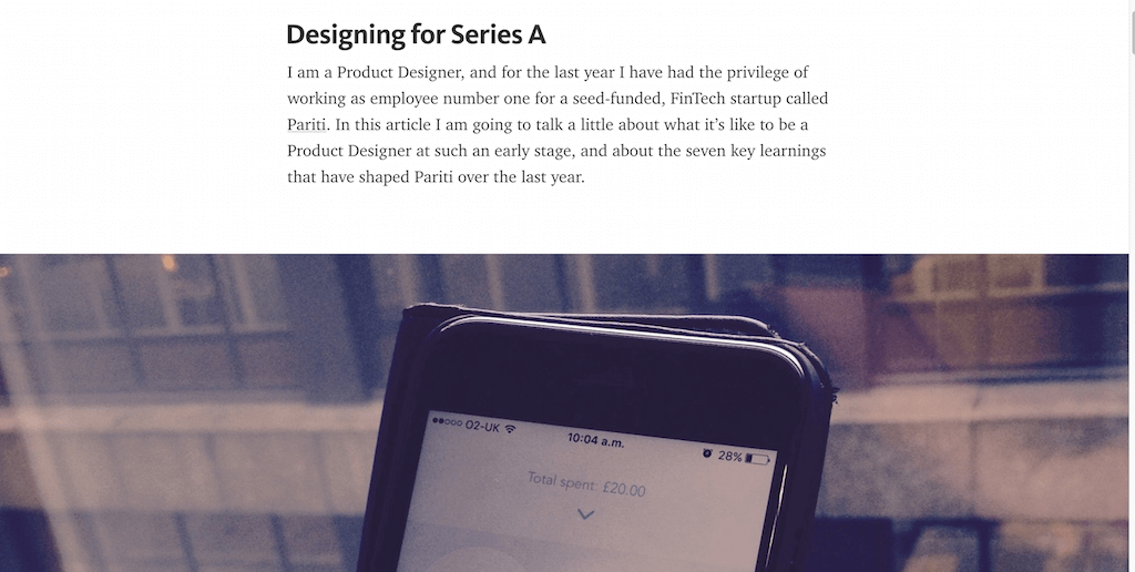 Designing for Series A