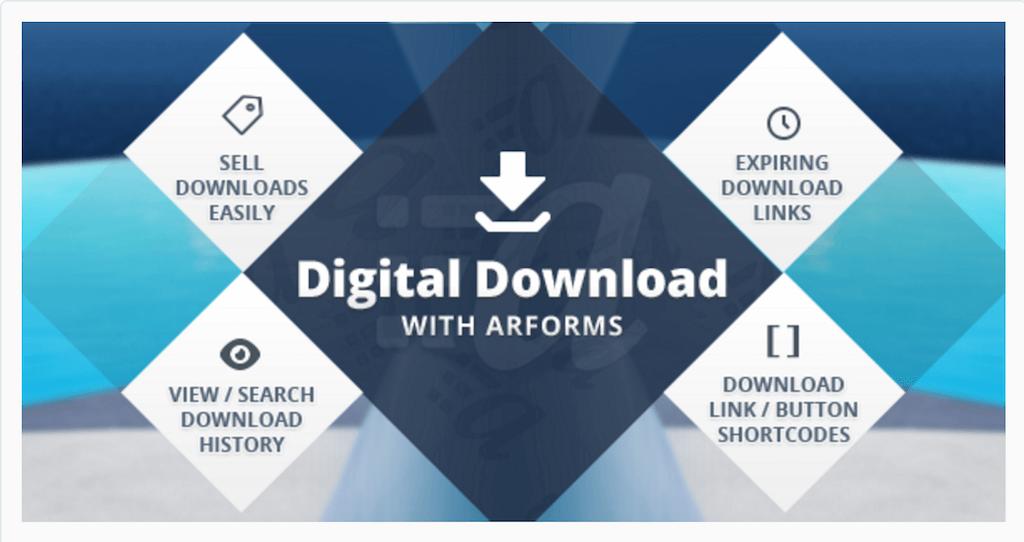 Digital downloads with Arforms