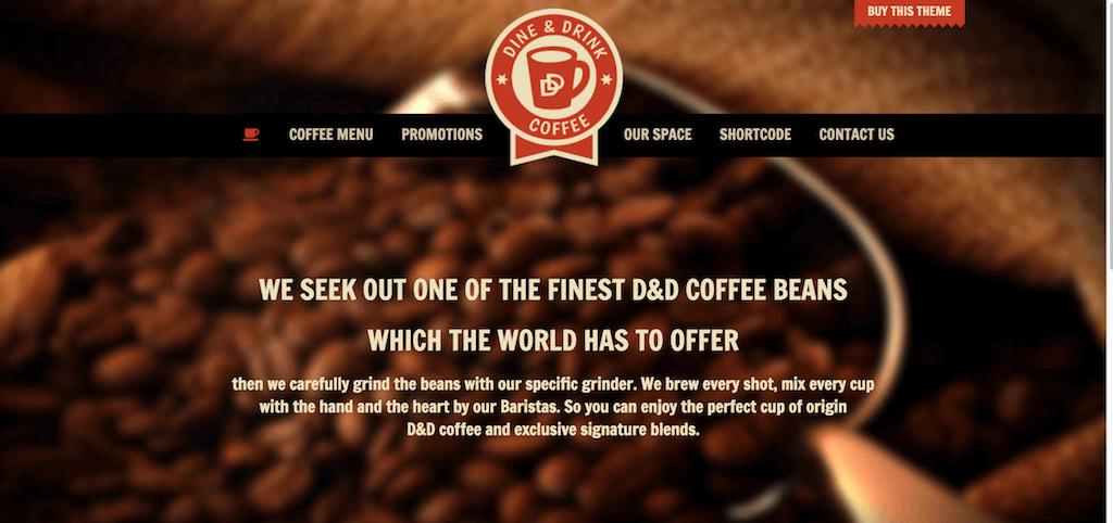 Dine Drink Restaurant WordPress Theme Coffee