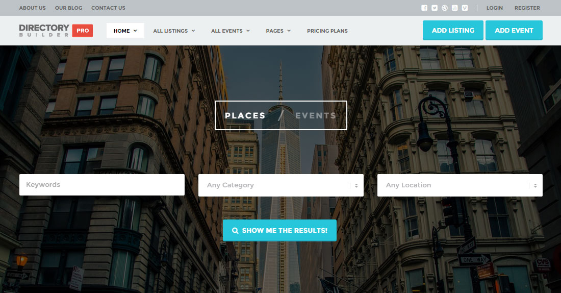 Directory Builder Theme Review: Create A Listings And Events Directory Website With WordPress
