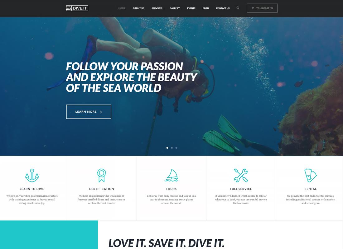 DiveIt | Scuba Diving School WordPress Theme