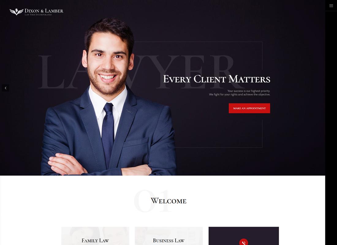 Dixon & Lamber - Law Firm WordPress Theme