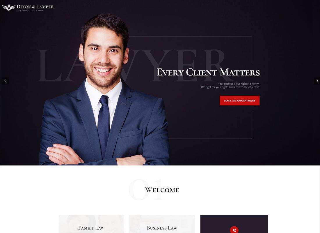 Dixon & Lamber | Law Firm WordPress Theme
