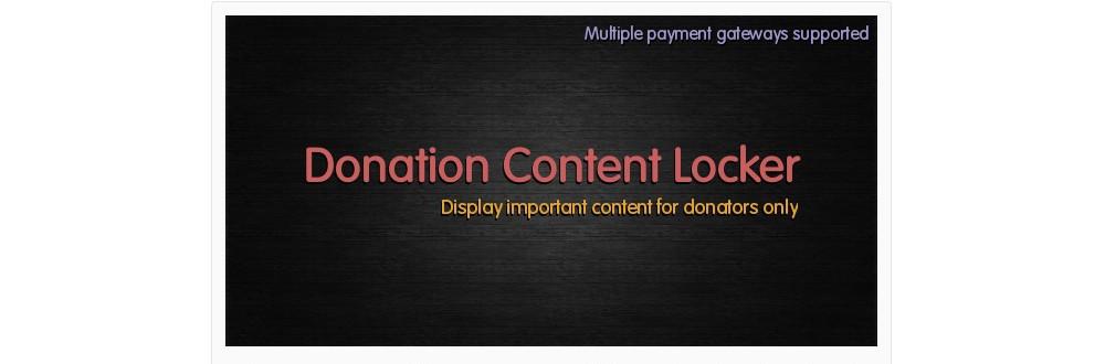 Donation Content Locker
