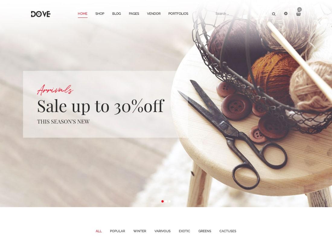 Dove | Handmade Furniture Responsive WooCommerce WordPress Theme