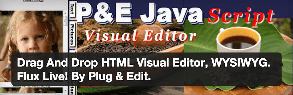 Drag And Drop HTML Visual Editor WYSIWYG. Flux Live By Plug Edit. — WordPress Plugins