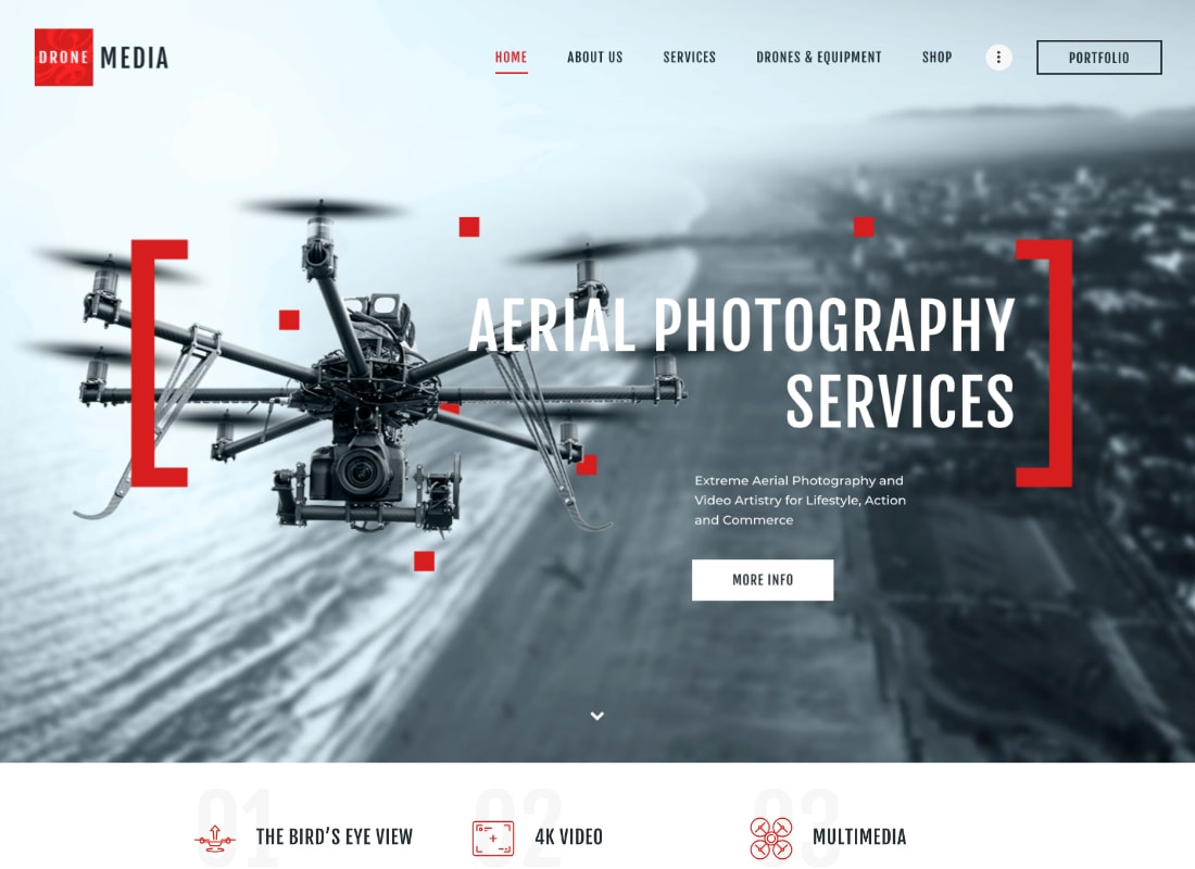 Drone Media | Aerial Photography & Videography WordPress Theme