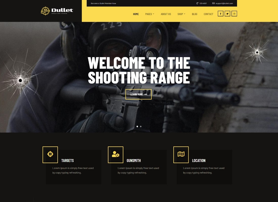 Dullet | Shooting Range & Gun Club Theme