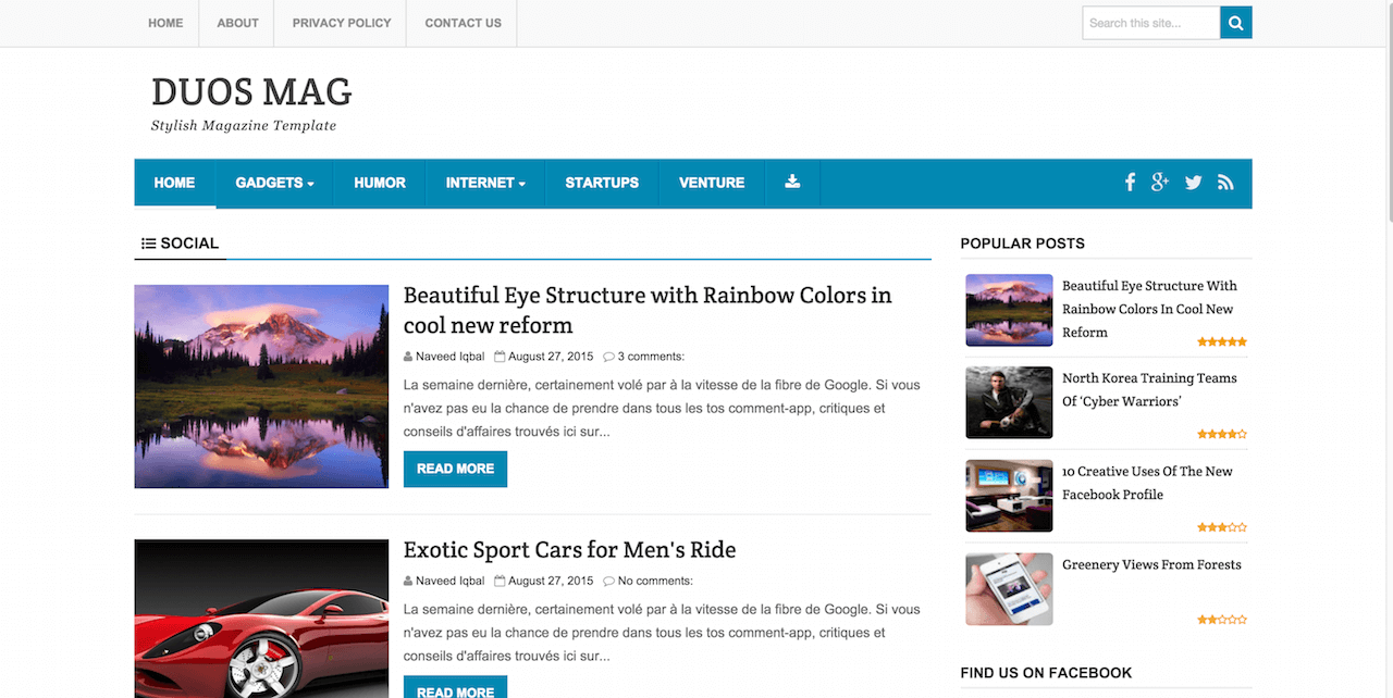 top best responsive blogger templates colorlib duos mag as the suggests is a blogger magazine theme an extra hint of that modernism feel added to it duos mag will manage to make even some of